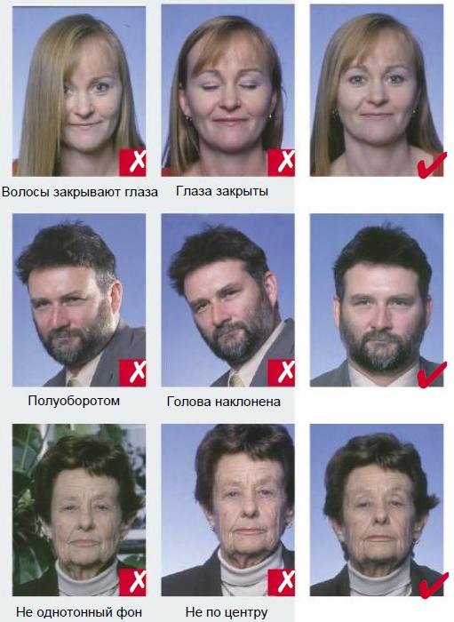 требования к фото на визу в прагу